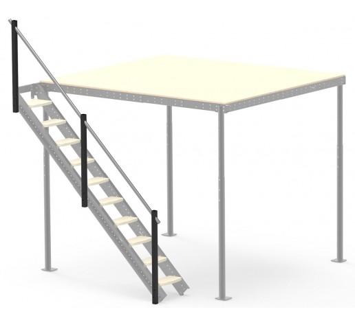 Railing for side ladder