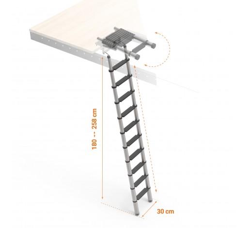 Telescopic aluminium ladder