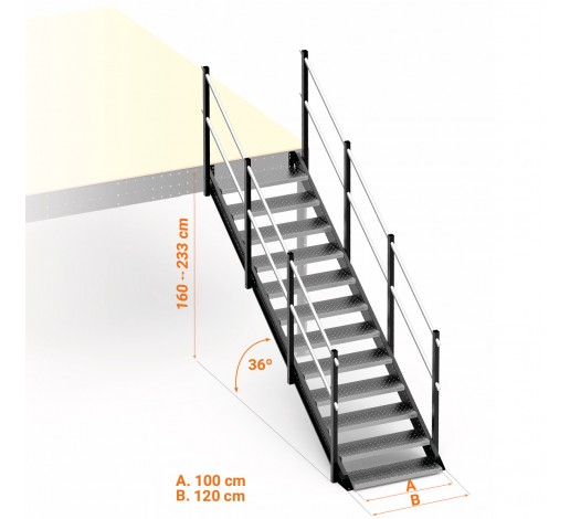 General Access Stairs 36º